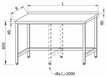 Stół przyścienny RMS-1002 *