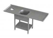 Stół przedłużony ze zlewem i otworem na odpadki RMS *