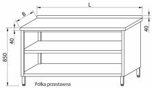 Stół przyścienny zabudowany RMS-1021 *