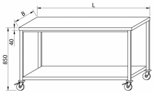 Stół na kółkach RMS-1041 *