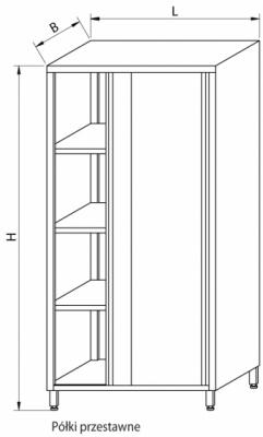 Szafa magazynowa z drzwiami suwanymi RMM-1205