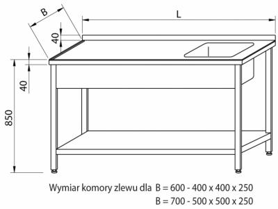 Stół ze zlewem RMS