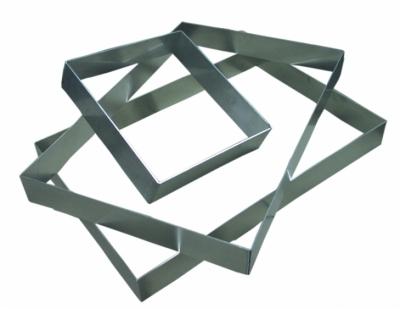 Ranty prostokątne ze stali nierdzewnej - gr. 1,5mm