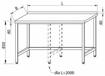 Stół przyścienny RMS-1002