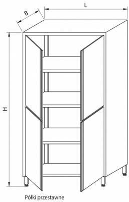 Szafa magazynowa z drzwiami skrzydłowymi RMM-1207