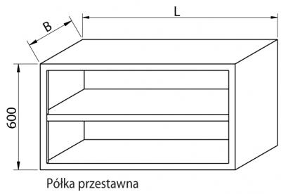 Szafka wisząca otwarta RMSZ-1081