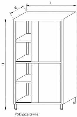 Szafa magazynowa z drzwiami suwanymi RMM-1206