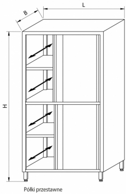 Szafa przelotowa z drzwiami suwanymi RMM-1208
