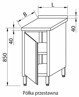 Stół przyścienny z szafką RMS-1031