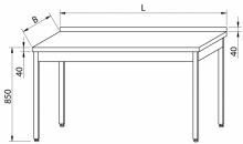 Stół przyścienny RMS-1001 *