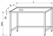 Stół z otworem na odpadki RMS-1143 *