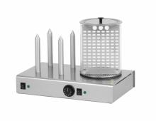 Hot-dog poczwórny z pojemnikiem podgrzewanym HD-4N