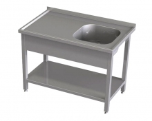 Stół ze zlewem i półką RMS *