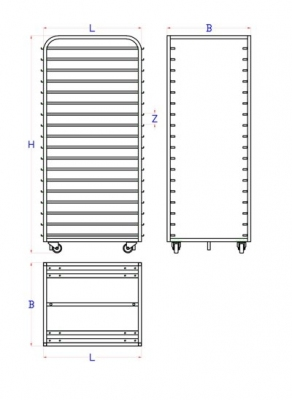 Wózek do pieców obrotowych BONGARD 8.63