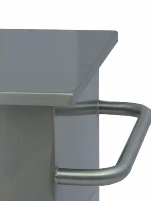 Pojemnik na materiały sypkie na kołach